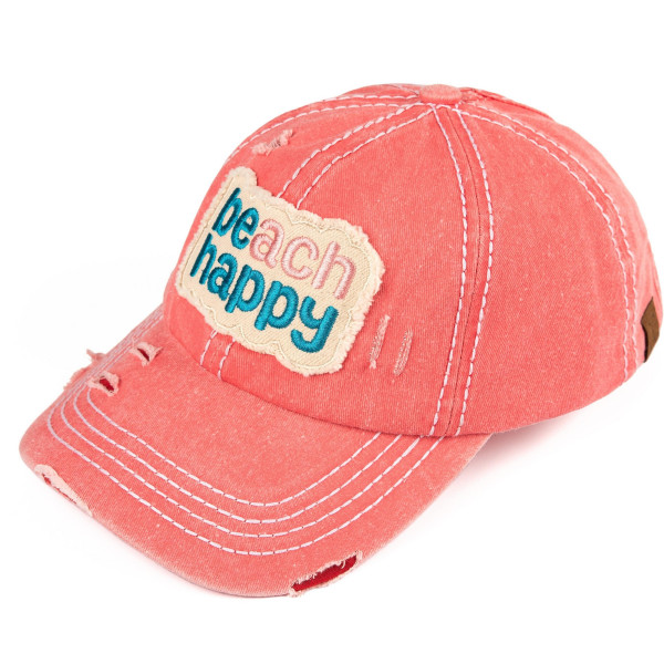 Wholesale c C BT Beach happy vintage washed distressed cotton pony cap cotton On