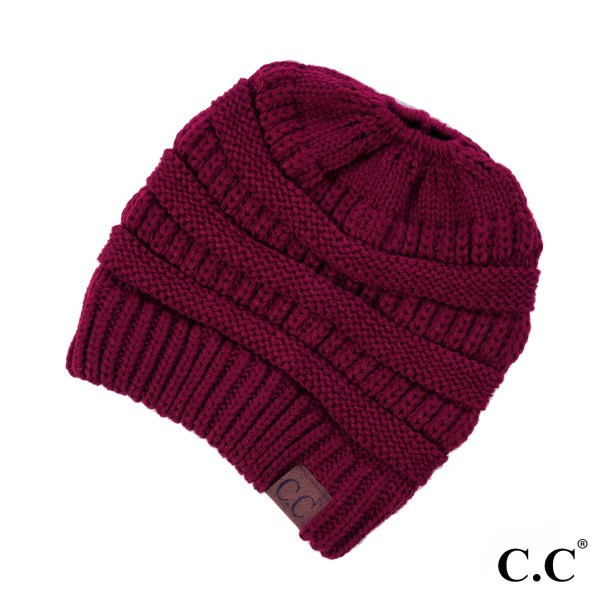 MB-20A: Messy-bun, C.C beanie. 100% acrylic.   Matches: HAT-20A, G-20, and SF-800