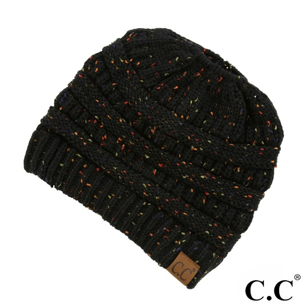 Wholesale mB Messy bun confetti print C C beanie acrylic Matches HAT G SF