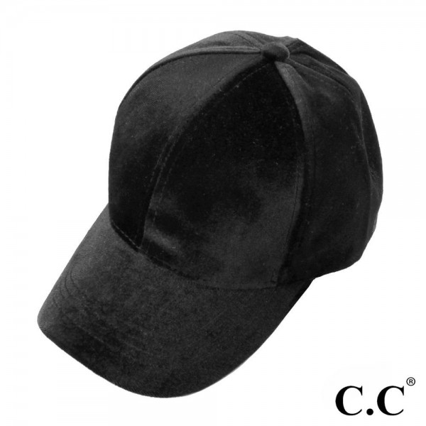 CC BT-722 Solid Color Velvet Ponytail Baseball Cap. 100% Polyester