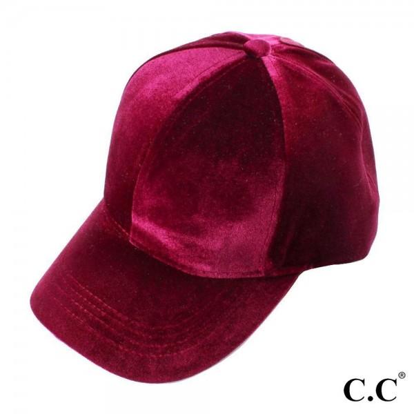 CC BT-722 Solid Color Velvet Ponytail Baseball Cap. 100% Polyester