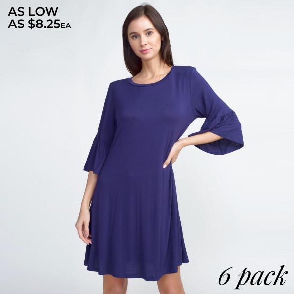 Wholesale adorable peplum sleeve dress will be wardrobe staple wear casual coff