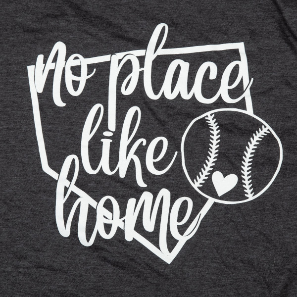 No place like home. Short Sleeve Boutique Graphic Tee. These t-shirts are sold in a 6 pack. S:1 M:2 L:2 XL:1 35% Cotton 65% Polyester Brand: ANVIL
