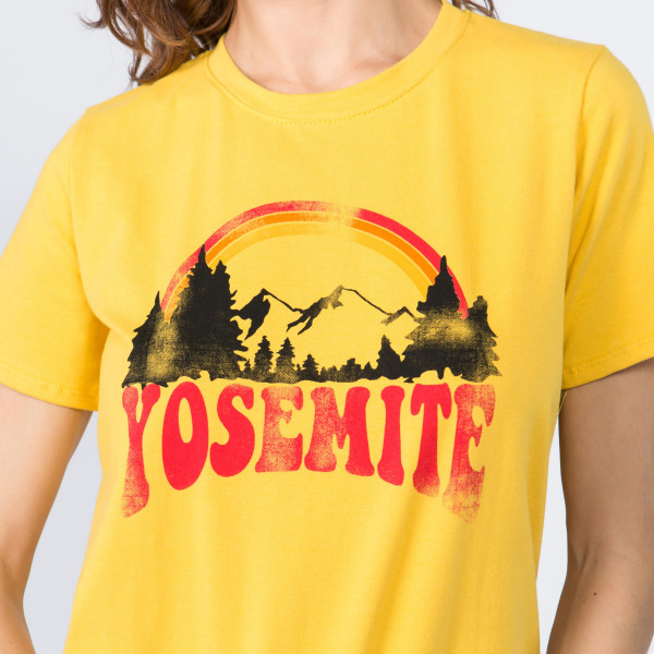 Super Soft and Stretchy Short Sleeve Boutique Graphic Tee. Sold in a 6 pack. S:2 M:2 L:2 35% Message: YOSEMITE