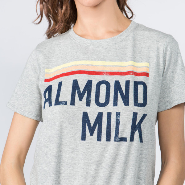 Super Soft and Stretchy Short Sleeve Boutique Graphic Tee. Sold in a 6 pack. S:2 M:2 L:2 35% Message: ALMOND MILK