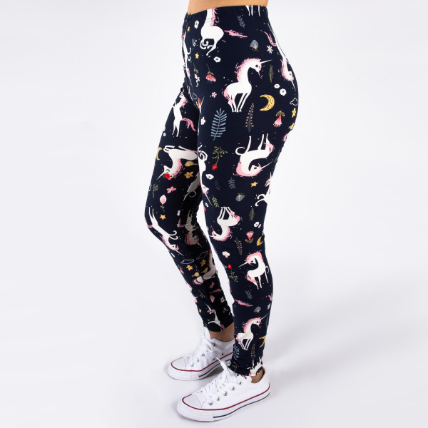 """Peach skin unicorn print full-length leggings. Inseam approximately 26"""".  - One size fits most 0-14  - Composition: 92% Polyester, 8% Spandex/Elasthanne"""