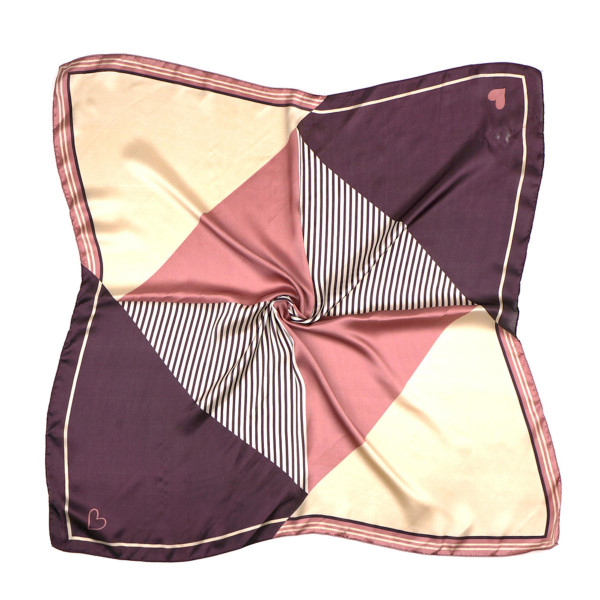 "Color block triangle striped bandana scarf/neckerchief.  - Approximately 27.5"" x 27.5""  - 100% Polyester"