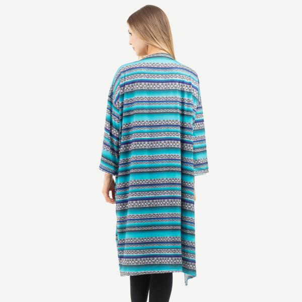 "Snakeskin print serape maxi kimono.  - Approximately 51"" in length - 100% Polyester"