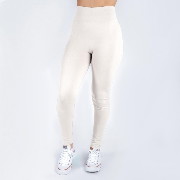 New Kathy / New Mix white, summer-weight leggings are seamless, chic, and a must-have for every wardrobe. These lightweight, full-length leggings are versatile, perfect for layering, and available in many shades. Smooth fabric, 92% Nylon 8% Spandex. One size fits most, fits US women's 0-14.