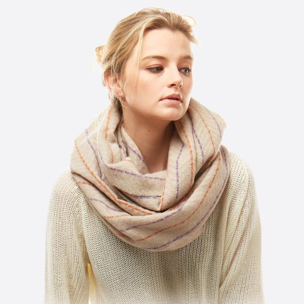 Wholesale herringbone print infinity scarf W L Polyester