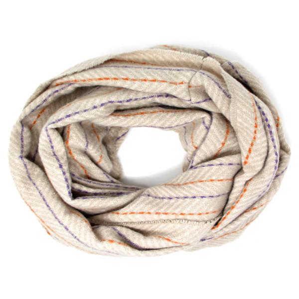 "Herringbone print infinity scarf.  - Approximately 28"" W x 72"" L - 100% Polyester"