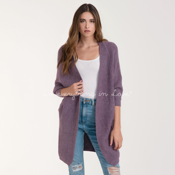 "Do everything in Love brand solid color ribbed knit cardigan with cocoon sleeves and side pocket details.  - One size fits most 0-14 - Approximately 31"" L - 100% Acrylic"
