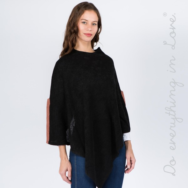 "Do everything in Love brand solid color thin knit poncho sleeve slit details.  - One size fits most 0-14 - Approximately 38"" L - 100% Acrylic"