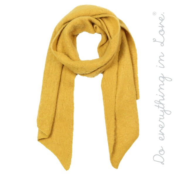 Wholesale do everything Love brand soft touch solid color bias cut knit scarf W