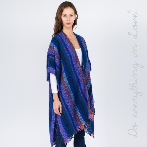"""Do everything in Love brand multicolor stripe kimono.  - One size fits most 0-14 - Approximately 37"""" L - 100% Acrylic"""