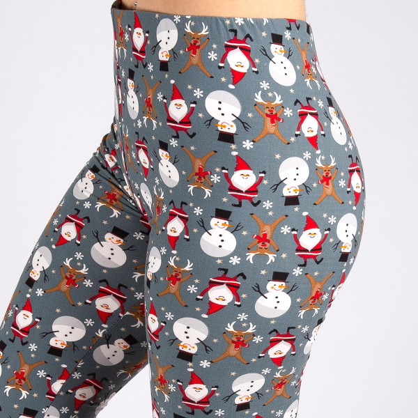 "New Mix brand Christmas printed peach skin leggings.  - Full length - Seamless - Lightweight - 1"" waistband  - One size fits most 0-14 - Inseam approximately 26"" in length - 92% Polyester, 8% Spandex"