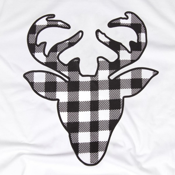 Anvil lightweight short sleeve buffalo check deer boutique graphic tee.  - Pack Breakdown: 6pcs / pack - 1-S / 2-M / 2-L / 1-XL - 100% Cotton