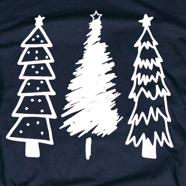 Navy Anvil short sleeve Christmas Tree printed boutique graphic tee.  - Pack Breakdown: 6pcs / pack - 1-S / 2-M / 2-L / 1-XL - 100% Cotton