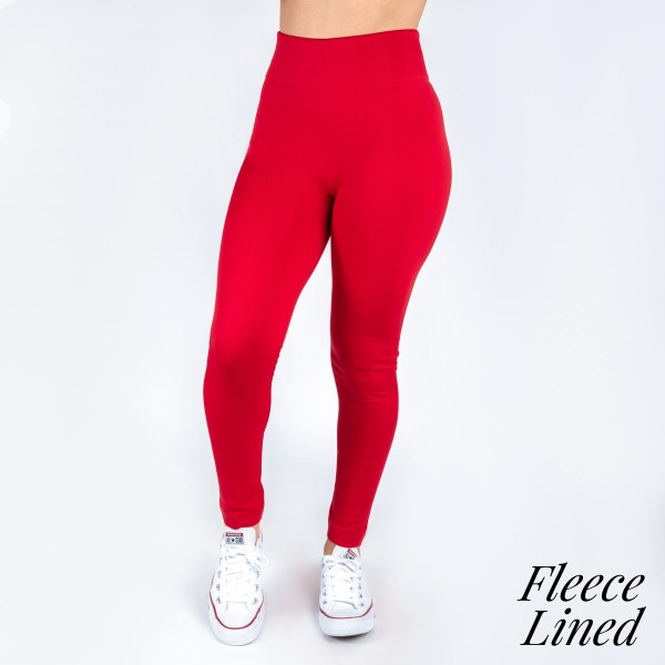 Wholesale kathy Mix red fleece lined leggings seamless chic must have every war