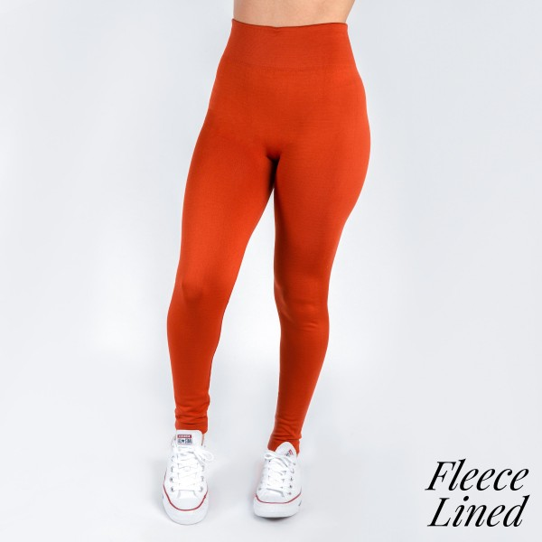 New Kathy / New Mix fleece lined leggings are seamless, chic, and a must-have for every wardrobe. These cozy, full-length leggings are versatile, perfect for layering, and available in many shades. Smooth fabric, 92% Nylon 8% Spandex. One size fits most, fits US women's 0-14.