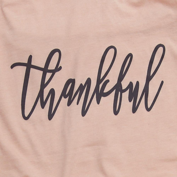 "Anvil lightweight short sleeve ""Thankful"" boutique graphic tee.  - Pack Breakdown: 6pcs / pack - 1-S / 2-M / 2-L / 1-XL - 100% Cotton"