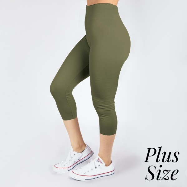 Wholesale pLUS Kathy Mix olive summer weight capris seamless chic must have ever
