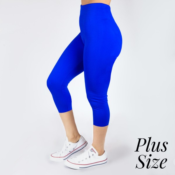 Wholesale pLUS Kathy Mix royal summer weight capris seamless chic must have ever