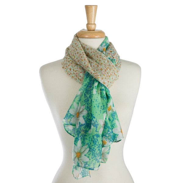 4ee86166c8646 Lightweight, open scarf with a floral print. 100% polyester ...