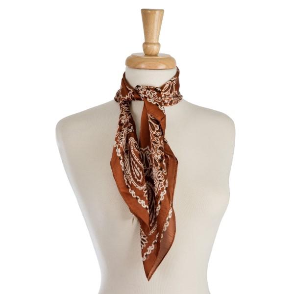 Wholesale lightweight neckerchief paisley print polyester