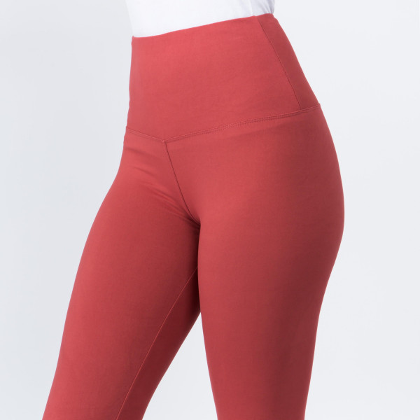 """These New Mix Brand peach skin leggings are seamless, chic, and a must-have for every wardrobe. These lightweight, full-length leggings have a 5"""" waistband. They are versatile, perfect for layering, and available in many colors. 92% Polyester 8% Spandex. One size fits most, fits US women's 0-14."""