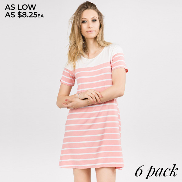 Wholesale go work play versatile striped dress season Carry all must haves two c