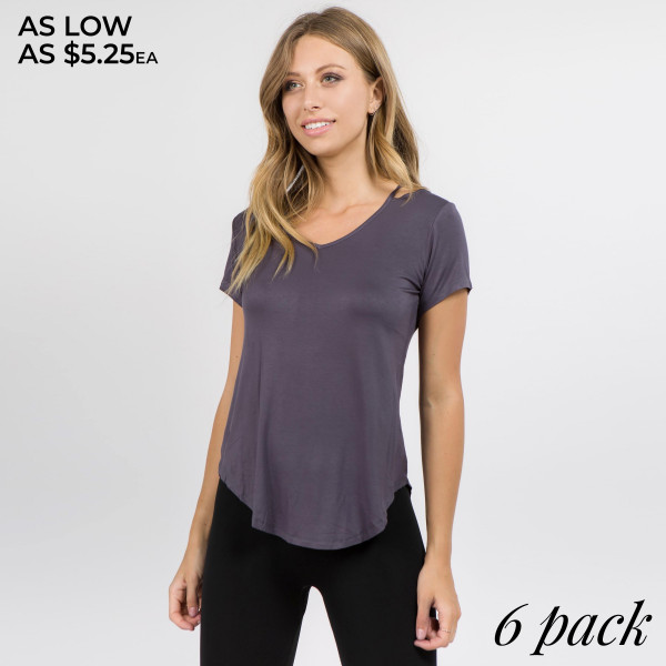 This stretchy, jersey-knit top features a stylish cutout at the top and a relaxed fit.