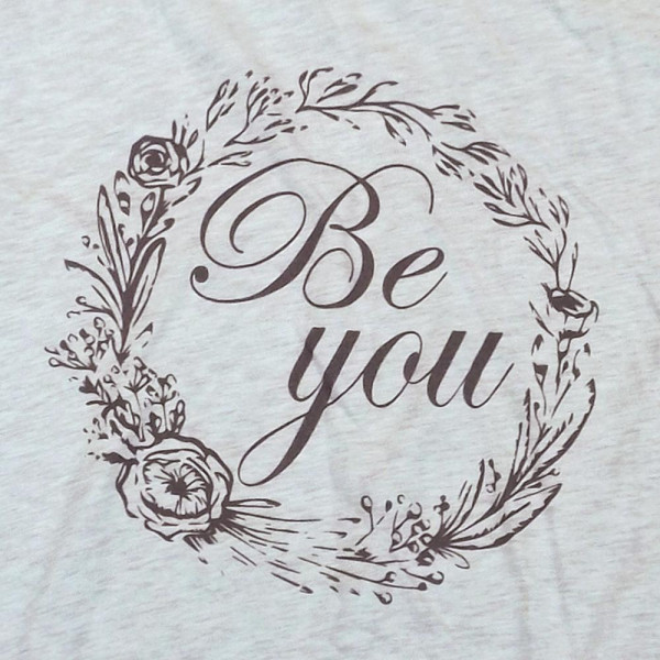 BE YOU - Short Sleeve Boutique Graphic Tee. These t-shirts are sold in a 6 pack. S:1 M:2 L:2 XL:1 35% Cotton 65% Polyester Brand: Canvas