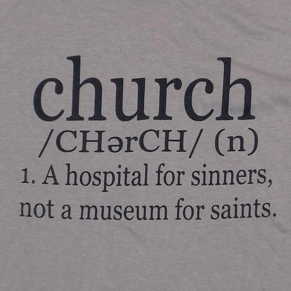 CHURCH - Short Sleeve Boutique Graphic Tee. These t-shirts are sold in a 6 pack. S:1 M:2 L:2 XL:1 35% Cotton 65% Polyester Brand: Anvil