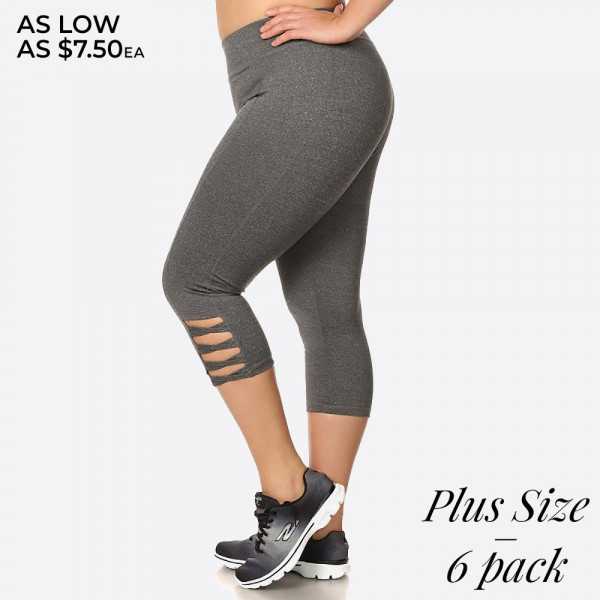 Capri Sportlegging.Capri Length Sport Legging With Cutout Leg Design And Elastic