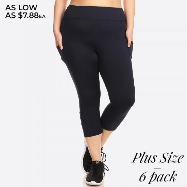 Capri Sportlegging.Capri Length Sport Legging With Mesh Panels And Elastic Waistband