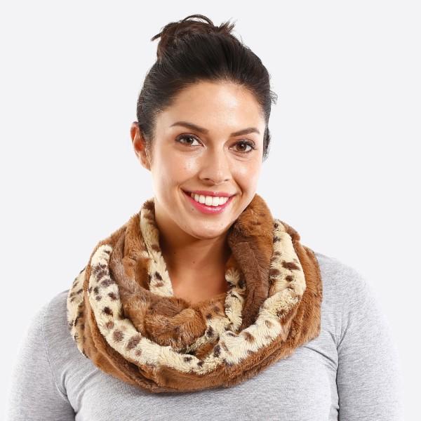 Soft animal print infinity scarf. 100% acrylic.