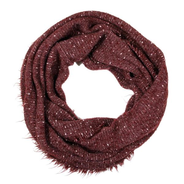Solid infinity scarf. 100% acrylic.