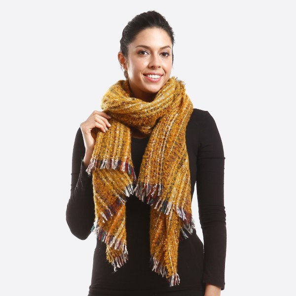 Textured multi colored scarf. 100% polyester.