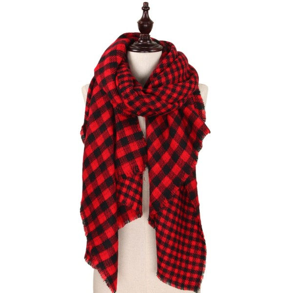 Soft touch buffalo check blanket scarf.   - 100% Acrylic