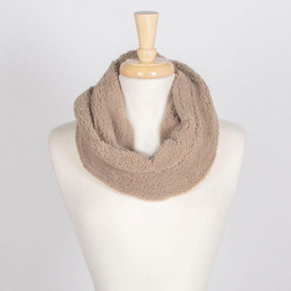 Burrrr! it's cold outside- Keep warm with this infinity faux fur  scarf. 100% acrylic.
