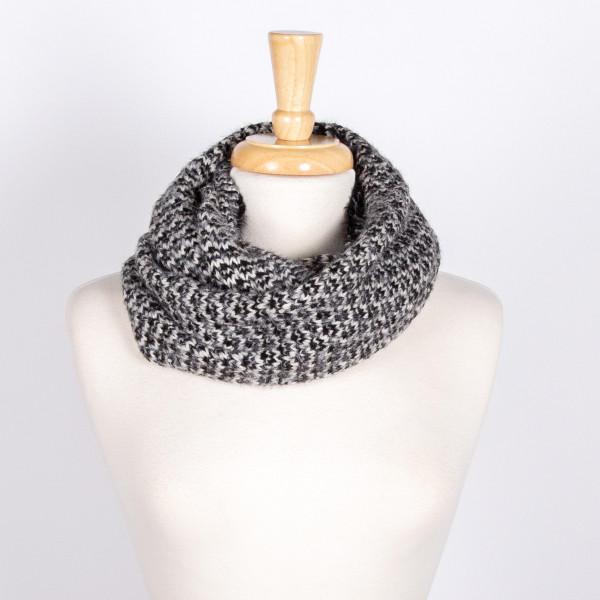 Wholesale marled knit infinity scarf acrylic