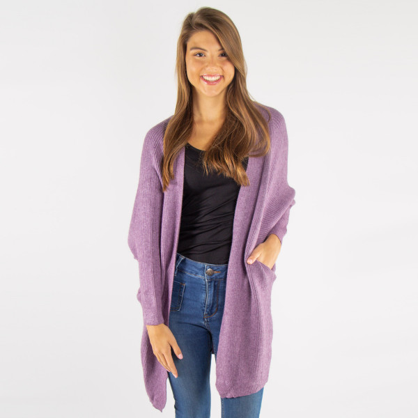 Light weight cardigan. 100% acrylic.   One size fits most.