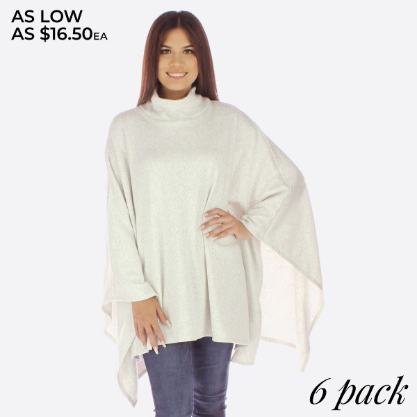 Light weight poncho. 100% acrylic.   Pack breakdown: 3S/M; 3L/XL