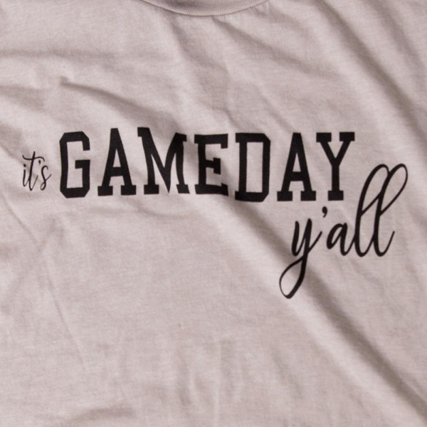 ITS GAMEDAY YALL - Short Sleeve Boutique Graphic Tee. These t-shirts are sold in a 6 pack. S:1 M:2 L:2 XL:1 35% Cotton 65% Polyester Brand: ANVIL