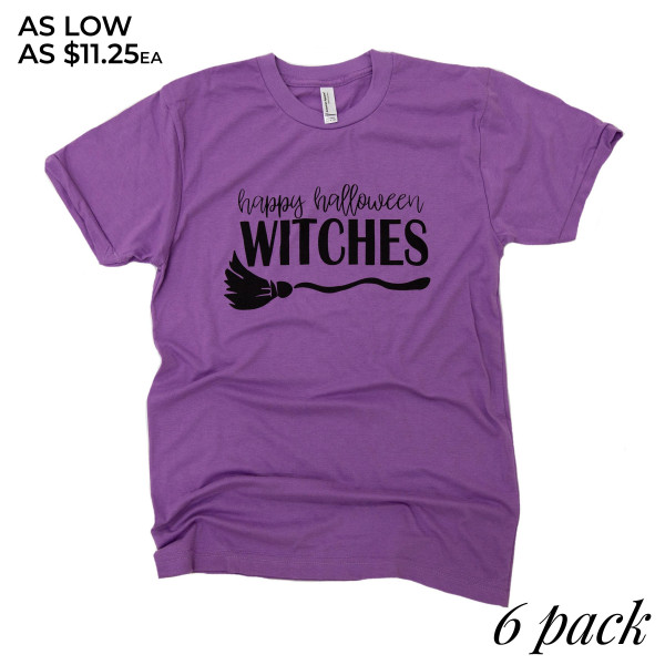 5a17cebf Wholesale hAPPY HALLOWEEN WITCHES Short Sleeve Boutique Graphic Tee t shirts  sol