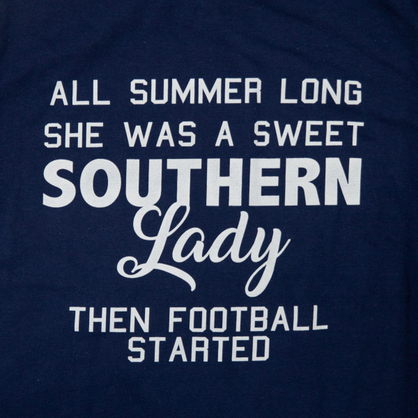 SOUTHERN LADY - Short Sleeve Boutique Graphic Tee. These t-shirts are sold in a 6 pack. S:1 M:2 L:2 XL:1 35% Cotton 65% Polyester Brand: ANVIL
