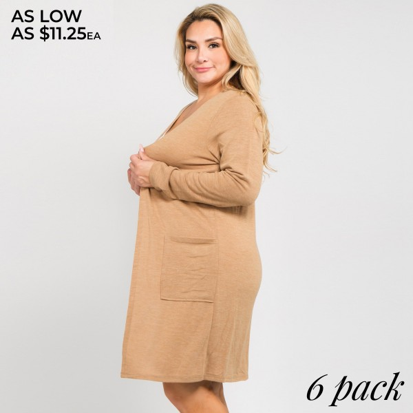 Add a cozy layer to any outfit with this long sleeve cardigan that makes the perfect finishing touch as you head out the door. 