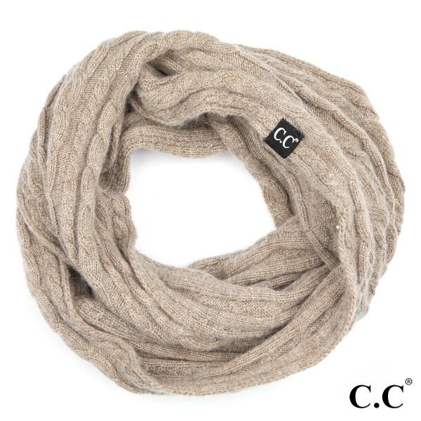 "C.C INF-402 Genuine ribbed infinity scarf  - 20% Angora, 80% Acrylic - One size fits most - W:15"" X H:57"""