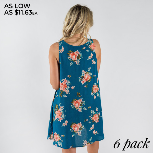Floral spaghetti strap dress. 
